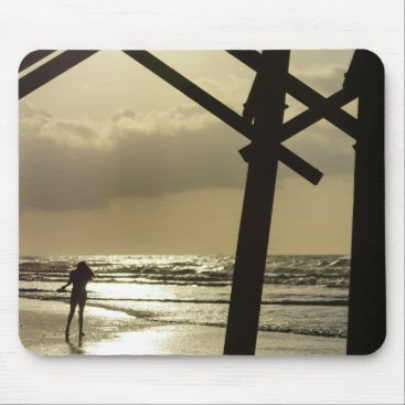 Beach Themed Golden Stroll Mouse Pad