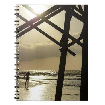 Beach Themed Golden Stroll Notebook