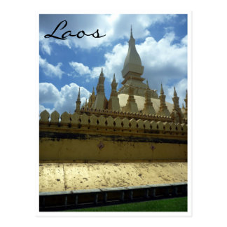 golden stupa corner postcard