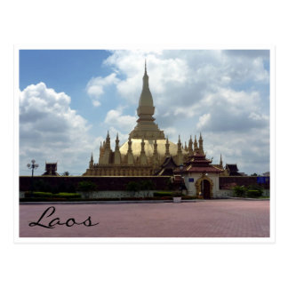 golden stupa entrance postcard