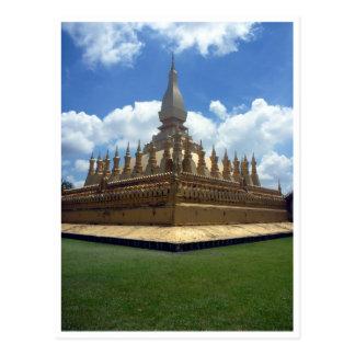 golden stupa grass postcard