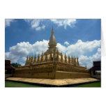 golden stupa greeting card