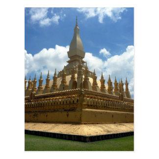 golden stupa sky postcard