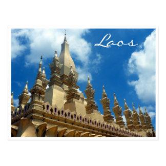 golden stupa tops postcard