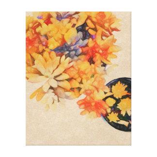 Golden Succulents Canvas Print