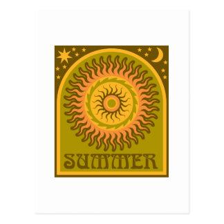 Golden Summer Sun Post Card
