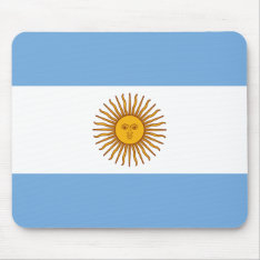 Golden Sun Argentina Flag Blue White Mouse Mat at Zazzle