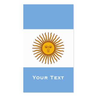 Golden Sun Argentina Flag Business Card