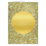 Golden Sun Background Greeting Cards