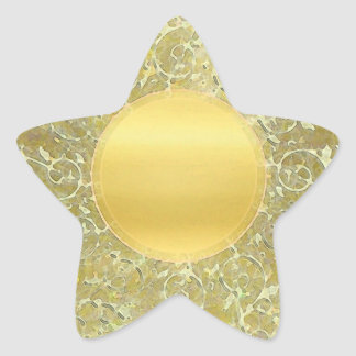 Golden Sun Background Star Sticker