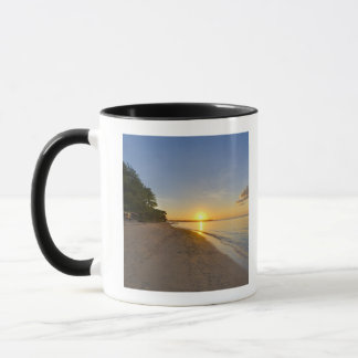 Golden Sun Ball Setting Over Tropical Island Mug