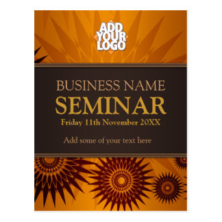 Golden Sun Business Seminar Workshop Postcard