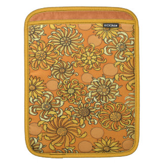 Golden Sun Flower Personalized iPad Sleeve
