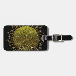 Golden Sun Luggage Tag