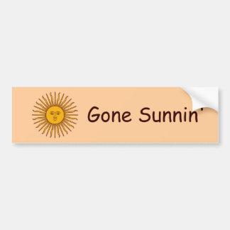 Golden Sun of May Argentina Flag Bumper Sticker
