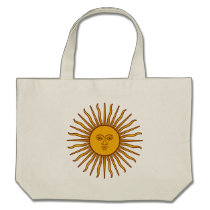 Golden Sun of May Argentina Flag Canvas Bag (CTC) at Zazzle