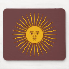 Golden Sun Of May Argentina Flag Mousepad at Zazzle