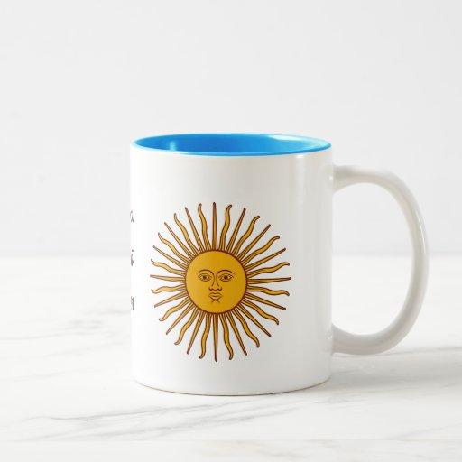 Golden Sun of May Argentina Flag Tea Coffee Cup Coffee Mug