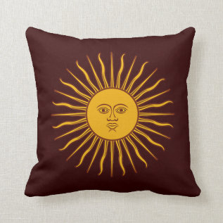 Golden Sun Of May Home Decor Throw Pillow at Zazzle