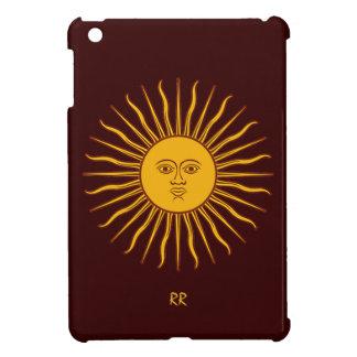 Golden Sun of May on Dark Bronzed iPad Mini Case