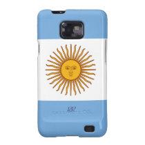 Golden Sun On Argentina Flag Samsung Galaxy Case Samsung Galaxy  S2 Cases at Zazzle