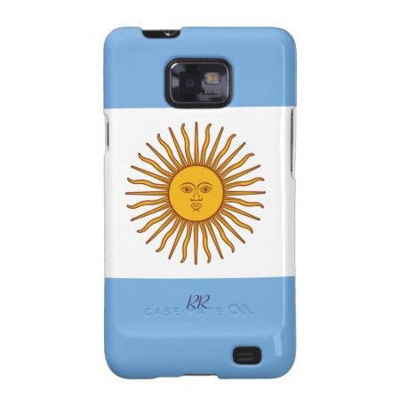 Golden Sun On Argentina Flag Samsung Galaxy Case