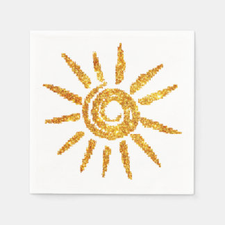 Golden Sun Paper Napkin