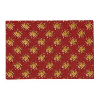 Golden Sun Pattern Placemat