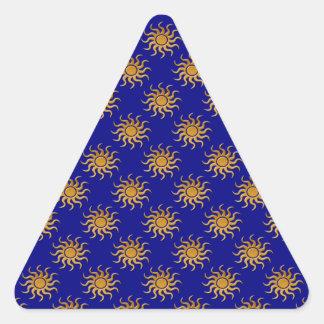 Golden Sun Pattern Triangle Sticker