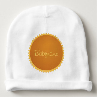 Golden Sun Personalized Baby Beanie