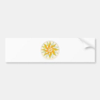Golden Sun Shine Flower Bumper Stickers