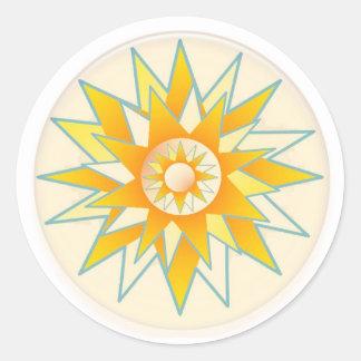 Golden Sun Shine Flower Stickers