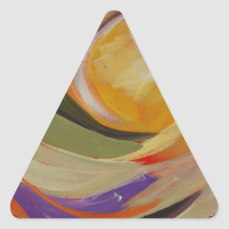 Golden Sun Triangle Sticker
