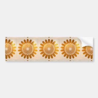 Golden Sunflower ART decoration Car Bumper Sticker