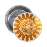 Golden Sunflower ART decoration 2 Inch Round Button
