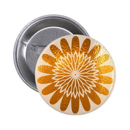 Golden Sunflower ART decoration Pinback Button