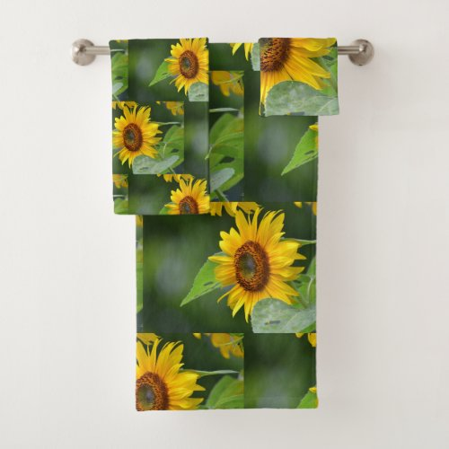 Golden Sunflower Bath Towel Set