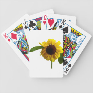 Golden Sunflower Bicycle Playing Cards
