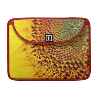 Golden Sunflower Closeup - florets and seeds Sleeves For MacBook Pro