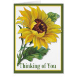 Golden Sunflower - Customize Greeting Card