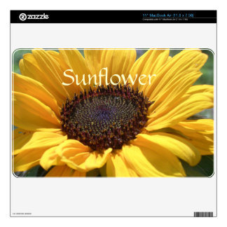 Golden Sunflower Decal For MacBook Air
