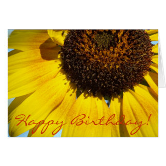 Golden Sunflower Greeting-Birthday Cards