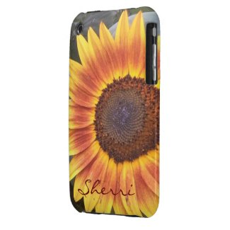 Golden Sunflower iPhone 3 case *personalize*