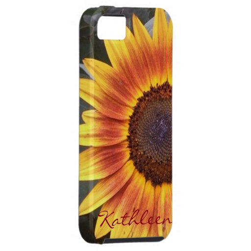 Golden Sunflower iPhone 5 case *personalize*
