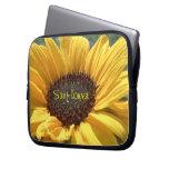 Golden Sunflower Laptop Computer Sleeves