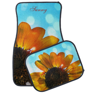 Golden Sunflower n Blue Skies Car Mats Car Mat