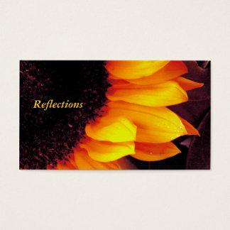 Golden Sunflower Petals Yellow Floral Photograph Business Card