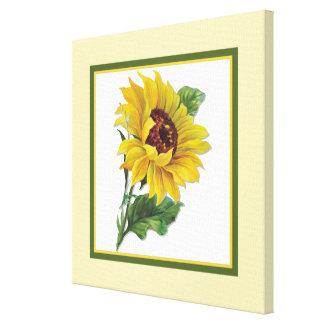 Golden Sunflower - Square Canvas Print
