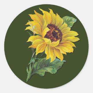 Golden Sunflower Sticker