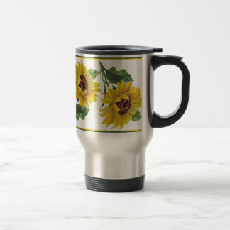 Golden Sunflower Travel Mug